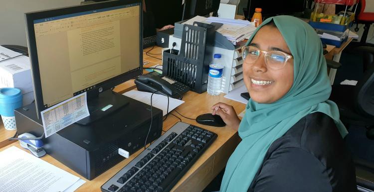 A photo of our volunteer Fahmida
