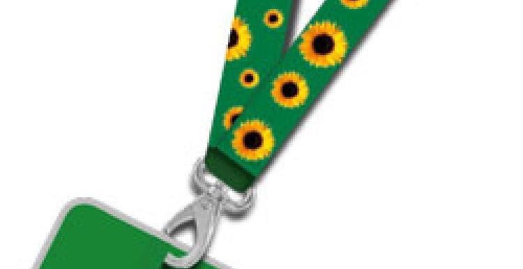 Healthwatch Lambeth sunflower lanyard