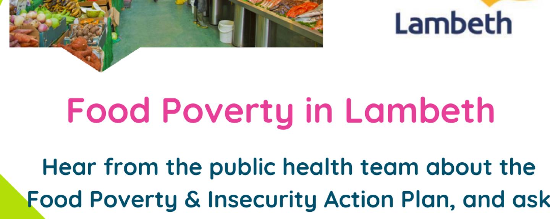 flyer for Lambeth food poverty webinar