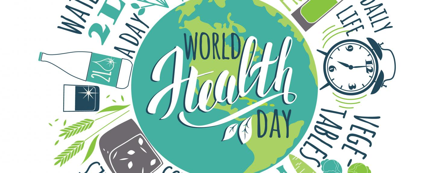 digital illustration of world health day event