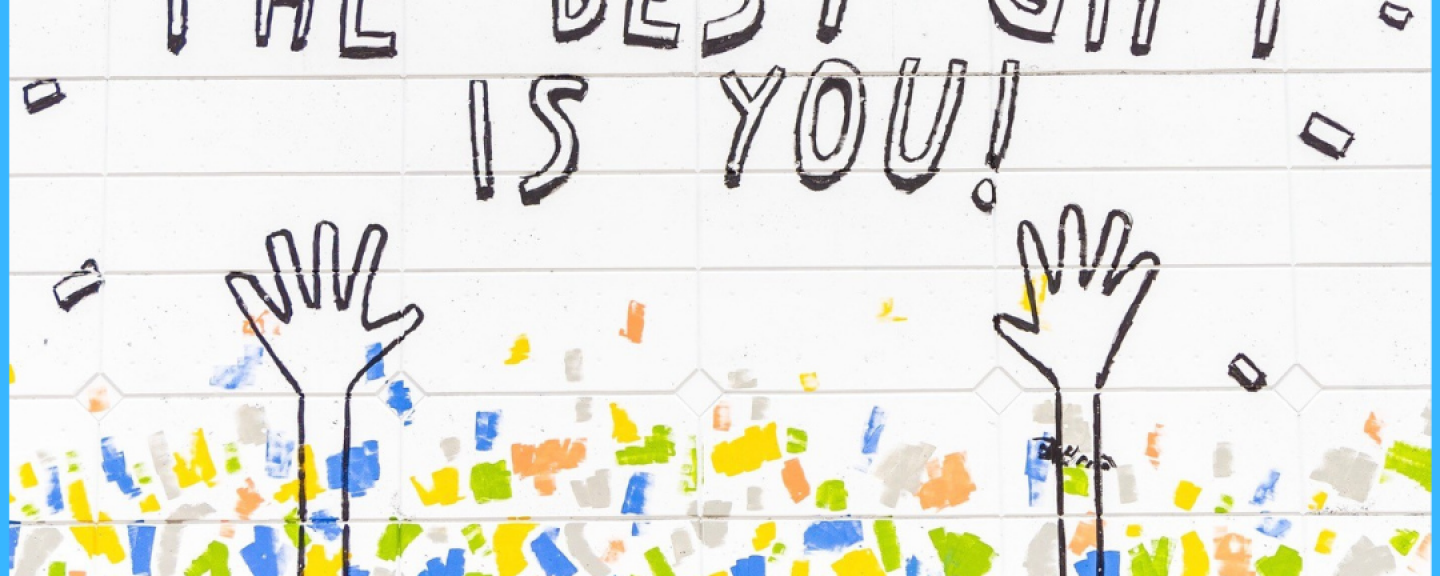 image of a handwritten note saying