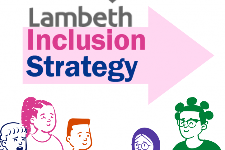 Image with the text Lambeth Inclusion Strategy