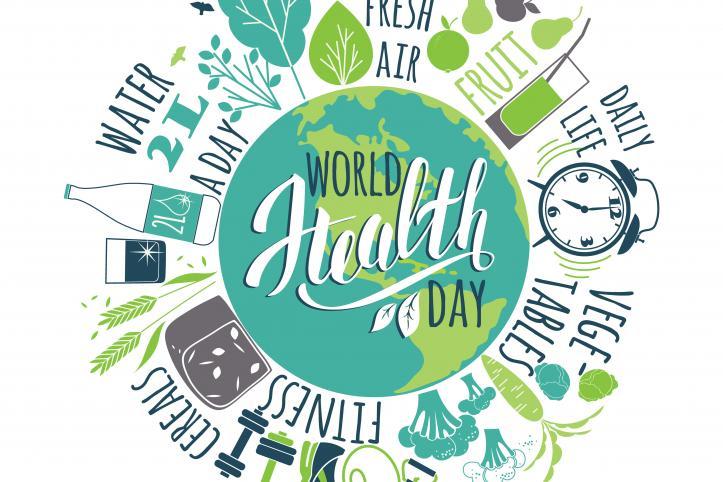 digital illustration of world health day event