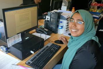 A photo of our volunteer Fahmida