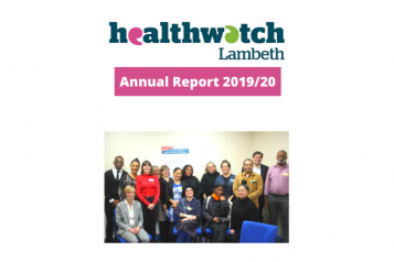 Healthwatch Lambeth Annual Report 2019/20