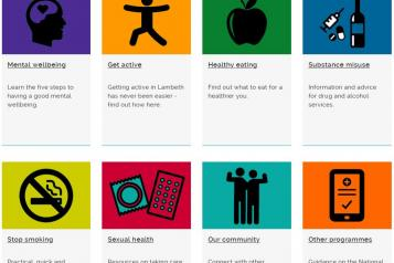 lambeth council your health logo