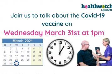Vaccine rollout webinar event banner