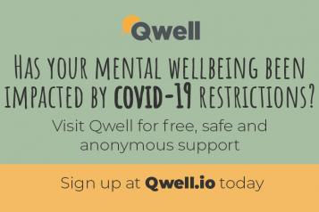 Qwell mental health service banner