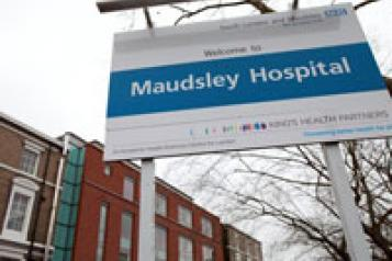a photo of the South London and Maudsley trust sign
