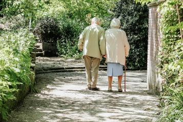 two old people walking
