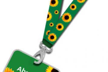 Healthwatch Lambeth sunflower lanyard