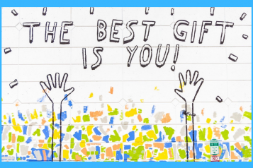 """image of a handwritten note saying """"the best gift is you"""""""