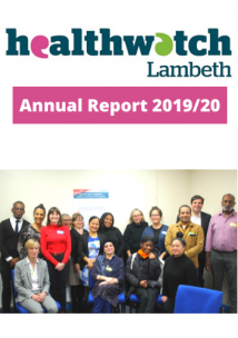 Healthwatch Lambeth Annual Report 2019/20