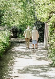 two old people walking